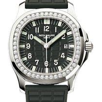 Patek Philippe Aquanaut Luce Ladies Diamond Bezel Black Dial...
