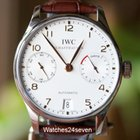 IWC Portuguese 7 Day Automatic Stainless Steel White Dial Gold...