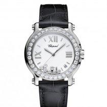 Chopard 278475-3038 Happy Sport 36mm Diamonds Steel Lady