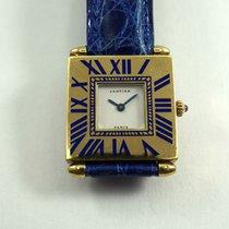 까르띠에 (Cartier) Quadrant Grand Modele blue enamel & 18k...