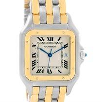 Cartier Panthere Jumbo Steel 18k Yellow Gold Three Row Unisex...