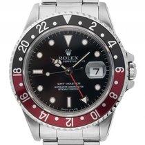 Rolex GMT Master II schwarz rot Coke Stahl Automatik Armband...