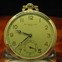 Tissot & Fils Locle 14kt 585 Gold Open Face Taschenuhr