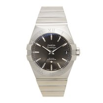 Omega Constellation Stainless Steel Gray Automatic 123.10.38.2...