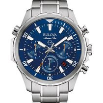 Bulova Mens Marine Star Chronograph - Stainless - Blue Dial -...