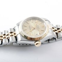 Rolex Ladies 18K/SS Datejust - Champagne Stick Marker Dial- 79173