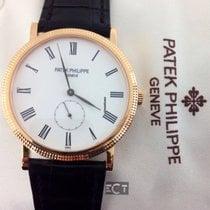 Patek Philippe 5116R Calatrava White Enamel Dial 18kt Rose Gold