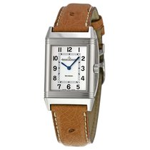 Jaeger-LeCoultre Reverso Classic Silver Dial Brown Ostrich...
