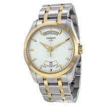 Tissot T-Trend Couturier White Dial Two-tone Men's Watch
