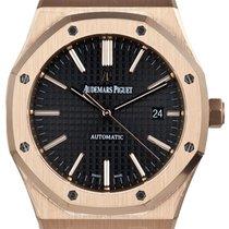 Audemars Piguet Royal Oak Rose Gold Leather 15400OR.OO.D002CR.01
