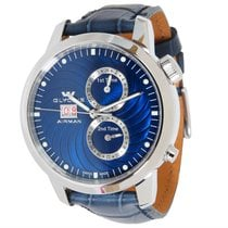 Glycine BRAND-NEW AIRMAN SEVEN 3-TIME ZONE STEEL