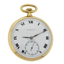 Tiffany Agassie Watch Co. Solid 18k Yellow Gold 45mm Pocket Watch