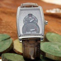 Gérald Genta Solo Biretro Herren Armbanduhr mit Brillantlünette