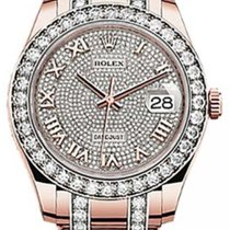 Rolex Pearlmaster 39 86285 Diamond Paved Roman Diamond Bezel...