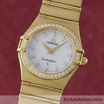 Omega Lady 18k Gold Constellation Diamanten Damenuhr 11777500
