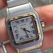 Cartier santos quarzo quartz medio medium acciaio steel full set
