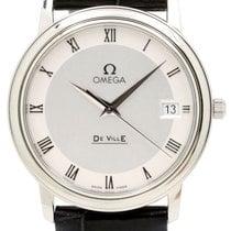 Omega De Ville Prestige Quartz Date 4810.33.01 34.4mm Silver...