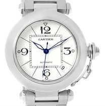 Cartier Pasha C Medium Automatic White Dial Date Watch W31074m7