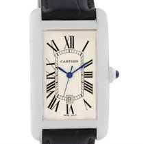 Cartier Tank Americaine Large 18k White Gold Watch W2603256