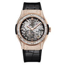 Hublot Classic Fusion 45mm Hand Wind 18K Rose Gold Mens Watch...