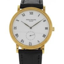 Patek Philippe Men's  Calatrava 3919 Manual Winding 18k YG