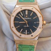 Audemars Piguet Royal Oak 41 blue dial in full rose gold...