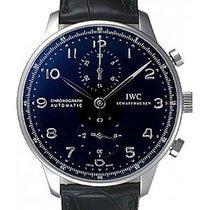 IWC Portuguese Chronograph Automatic Black Dial IW371447