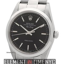 Rolex Air-King Precision Stainless Steel 34mm Black Dial A...
