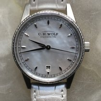 C.H. Wolf Urban Albia with diamond bezel, MOP dial