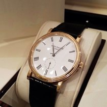Patek Philippe Calatrava 36mm Yellow Gold Watch Black Leather...