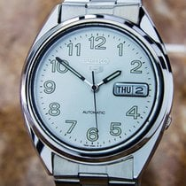 Seiko 5 Automatic 7s26 See Through Back S.steel Watch 1980s...