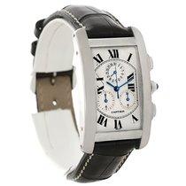 Cartier Tank Americaine Chronograph 18k White Gold Watch W2603358