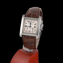 Cartier Tank Francaise Yearling XXL Steel Chronoflex