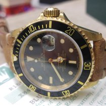 Rolex Submariner - 16618 - Serial X - YELLOW GOLD 18KT - FULL SET
