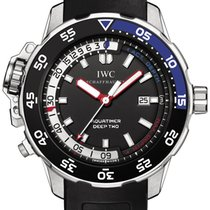 IWC Aquatimer Deep Two IW354702 Stainless Steel Black Rubber NEW
