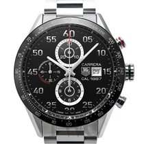 TAG Heuer Calibre 1887 Automatic Chronograph Black Steel 43mm...