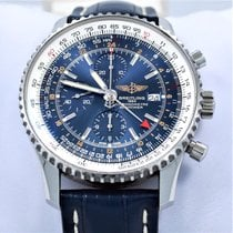 Breitling Navitimer A24322 Chronograph World Gmt 46mm Blue...