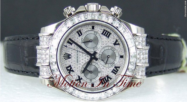 Rolex DAYTONA WHITE GOLD &amp;#34;SPECIAL EDITION&amp;#34; BAGUETTE DIAMOND COSMO