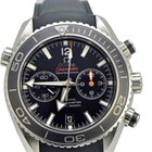 Omega Seamaster Planet Ocean Chrono Black Dial Rubber Mens Watch