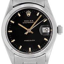 Rolex Vintage Oysterdate 29mm Ladies Stainless Steel Watch 6466