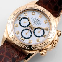 Rolex 18K Yellow Gold Daytona Factory White Diamonds 116518