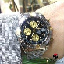 Breitling Chronomat Evolution B13356 18K Gold Steel 43.7mm