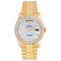 Rolex President Day-Date Men's Watch 118238 Custom Mother...