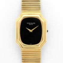 Patek Philippe Vintage Yellow Gold Onyx Dial Bracelet Watch...
