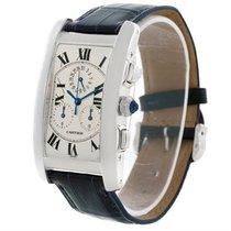 Cartier Tank Americaine Chronograph 18k White Gold Watch W2603356