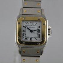 Cartier Santos Galbee Automatik #A3102 Gold / Stahl Box, Papiere