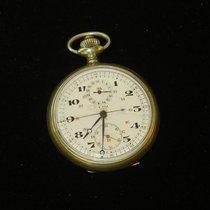 Lip Swiss Push Button Chronograph Pocket Watch Runs
