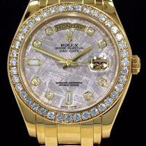 Rolex MASTERPIECE 18KT YELLOW GOLD METEORITE DIAMOND DIAL