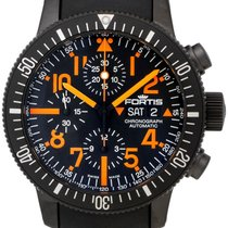 Fortis B-42 Black Mars 500 Automatic Chrono Mens Watch Limited...