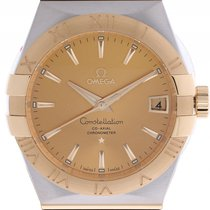 Omega Constellation Co-Axial Stahl Gelbgold Automatik 38mm